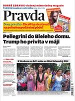 Vydanie Pravdy, náhľad obálky denníka